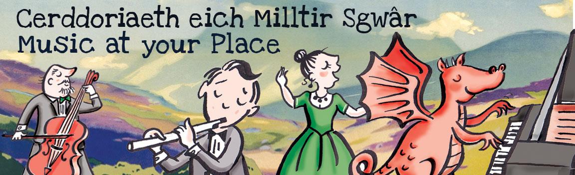 Cerddoriaeth eich Milltir Sgwâr – Music at your Place